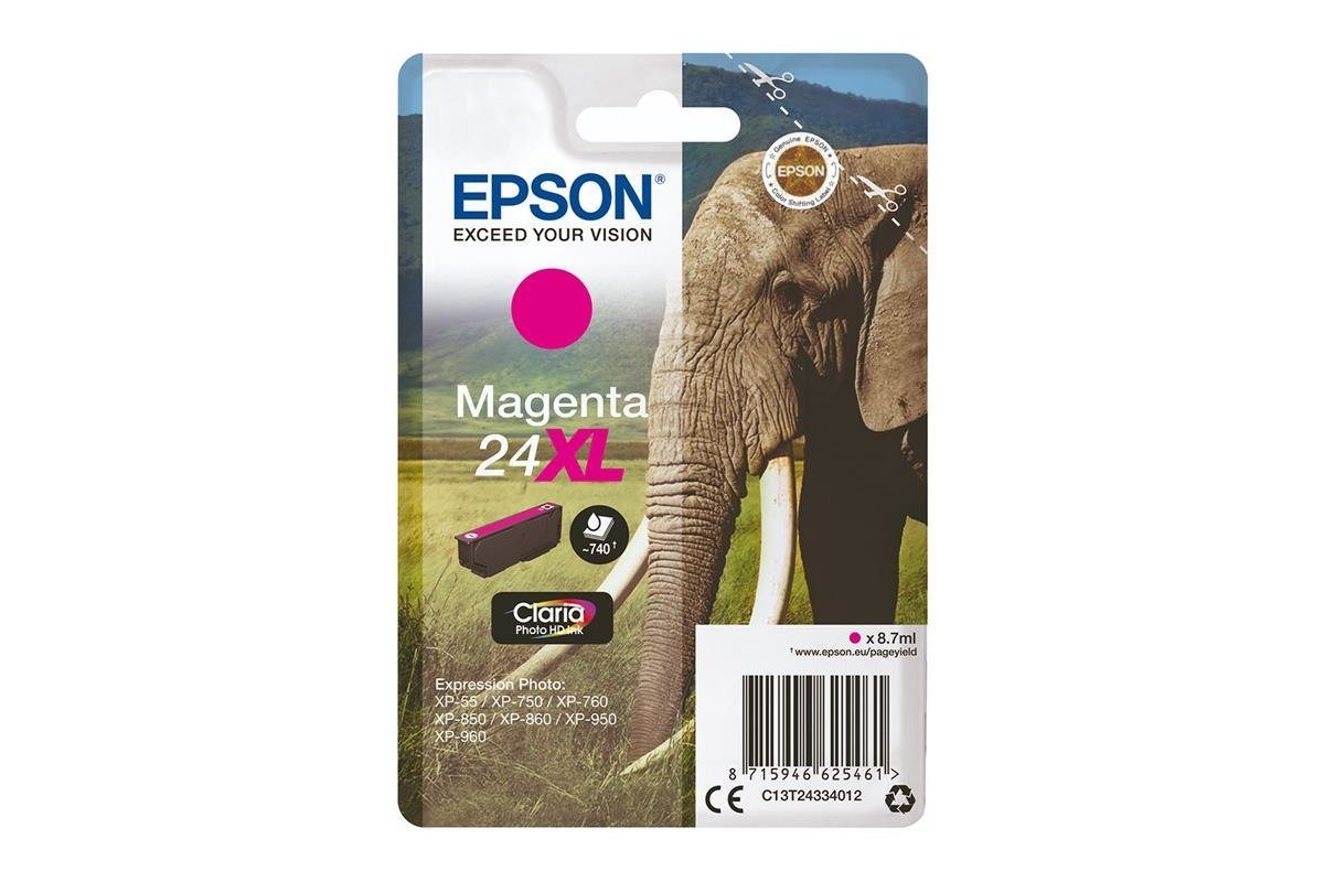 Genuine Ink Cartridge Epson 24XL T2433 C13T24334012 Magenta