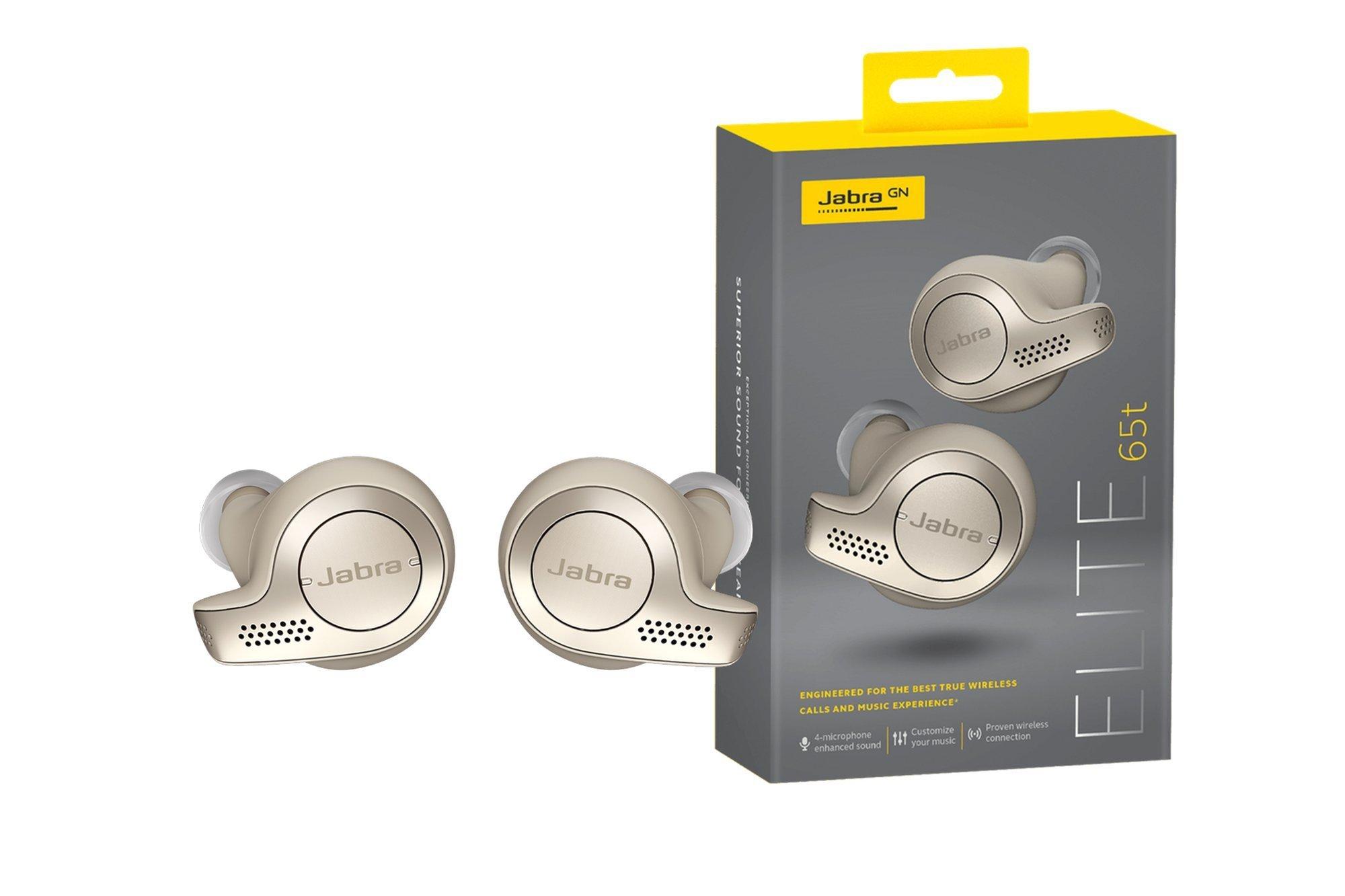 Jabra Elite 65T Wireless Headphones Gold Beige IP55