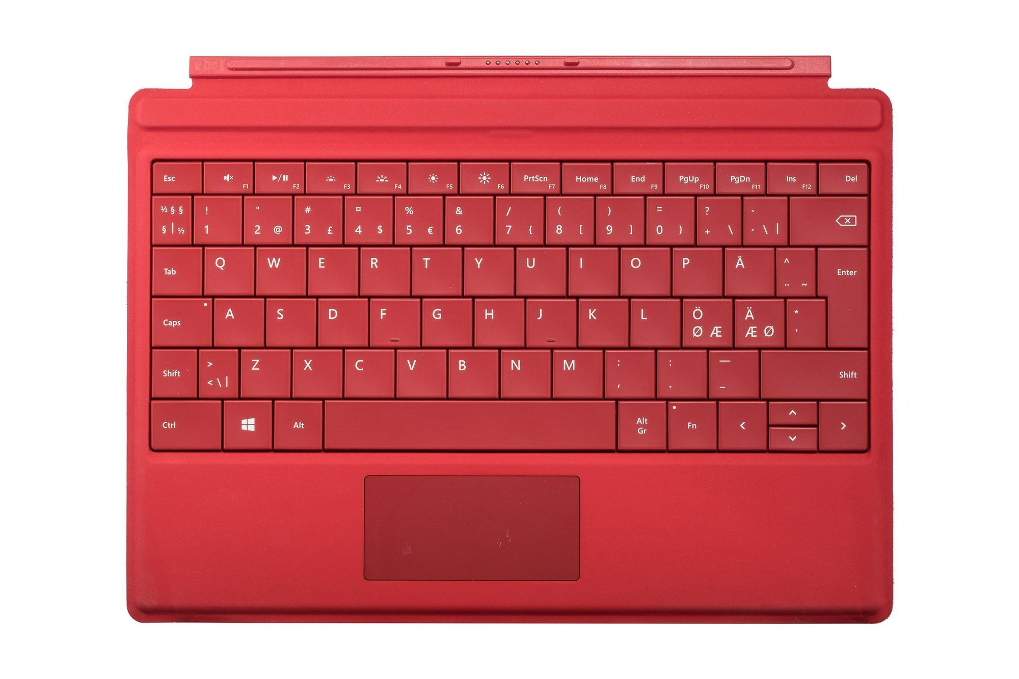 Keyboard Microsoft Surface Type Cover 3 Red QWERTY (Nordic) Grade A