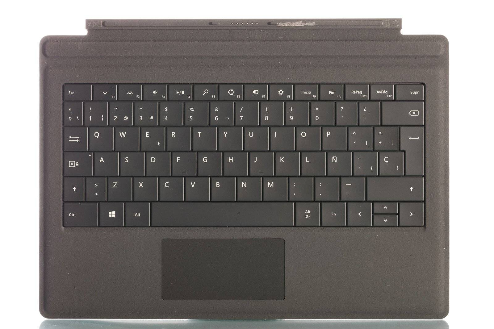 Keyboard Microsoft Surface Type Cover Pro 3 Black QWERTY (Spanish) Grade A