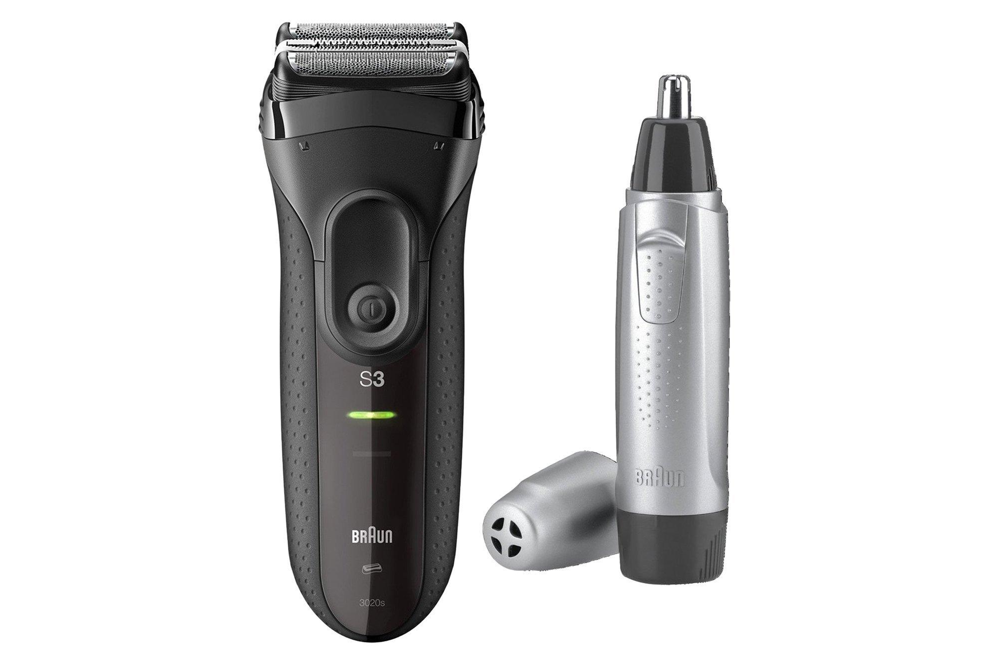 New Braun Series 3 ProSkin Shaver 3000VS + Ear and nose trimmer EN10