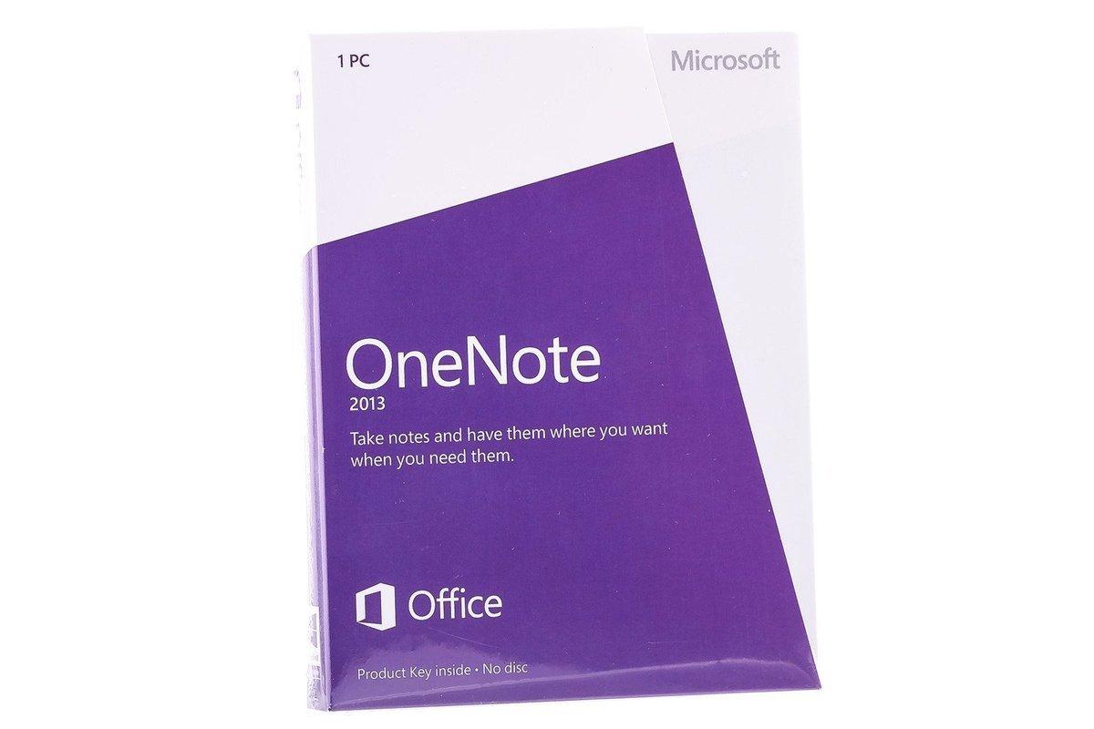 New Microsoft OneNote 2013 32/64 Medialess S26-05028 Eurozone