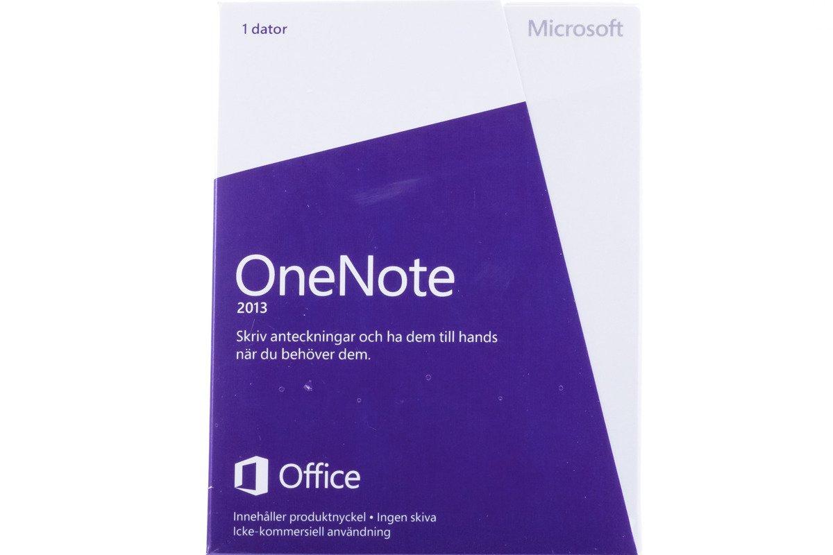 New Microsoft OneNote 2013 S26-05154 Swedish Medialess Non-commercial Eurozone
