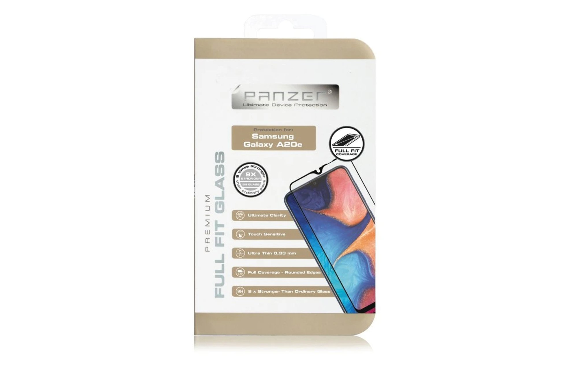 Protection glass Panzer FULL FIT GLASS SAMSUNG GALAXY A20E