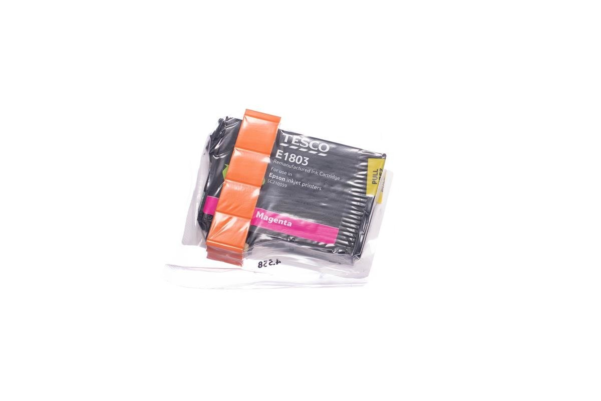 Remanufactured Ink cartridge Tesco Epson T1803 Magenta
