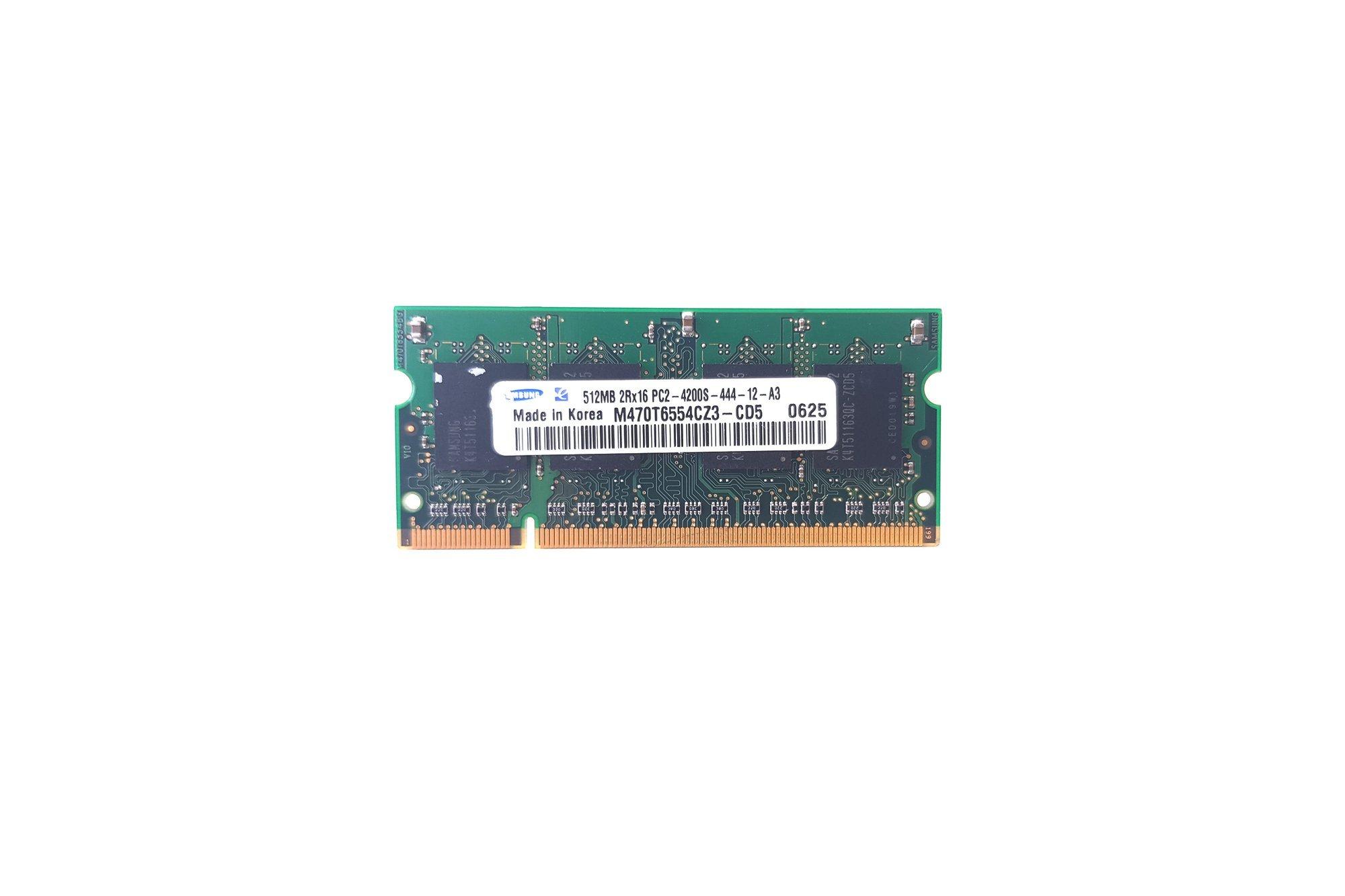 SODIMM Memory RAM Samsung M470T6554CZ3-CD5 512MB 0.5GB DDR2