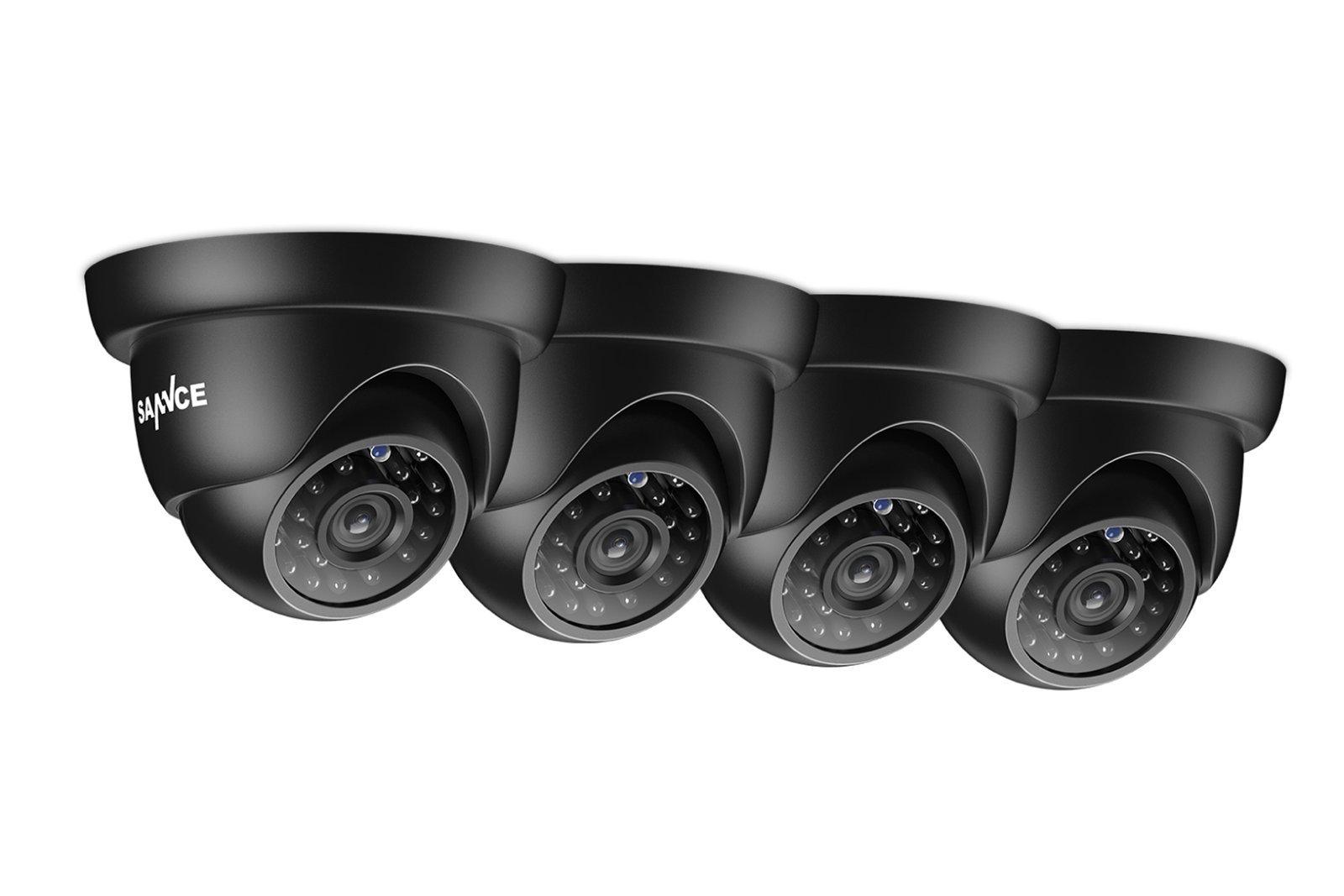 4x Camera Sannce C51Z 3.6mm 24IR 1MP 720P BNC Surveillance Camera