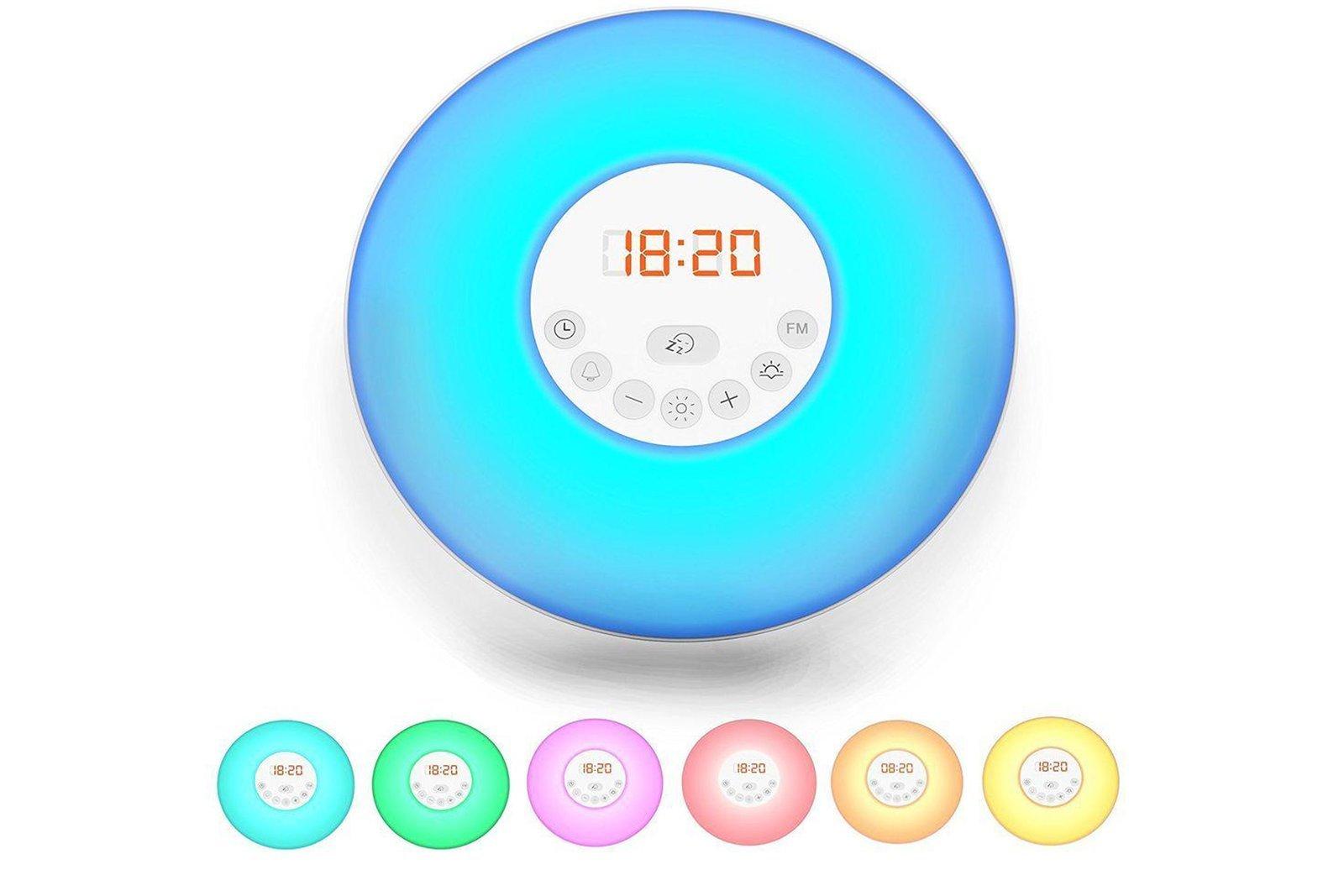 B.K.Licht Alarm Clock With FM Radio Sunrise Wake Up Light Simulation