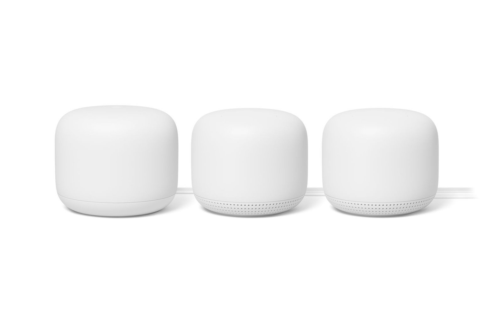 Google Nest Wifi Router and 2 extender points (GA00823-US) Snow