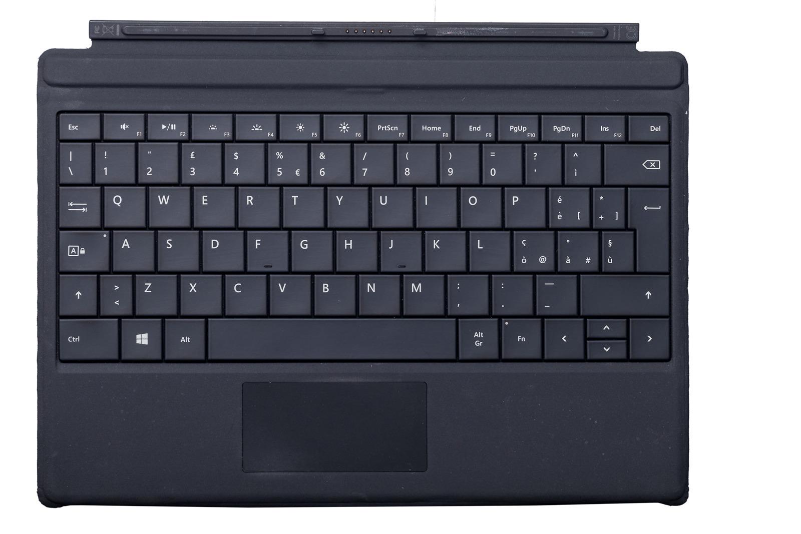 Keyboard Microsoft Surface Type Cover 3 Black QWERTY (Italian) Grade C