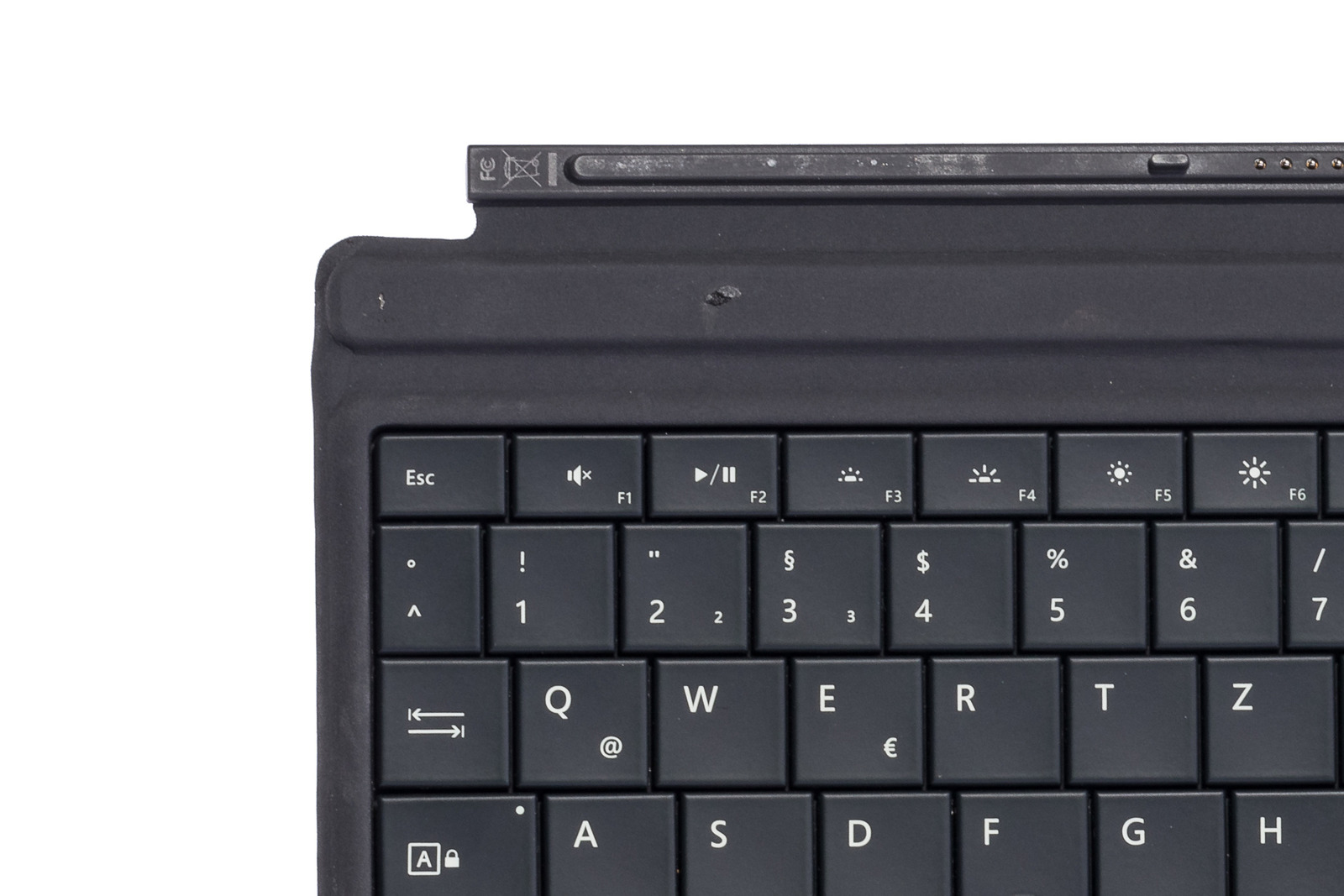 Keyboard Microsoft Surface Type Cover 3 Black QWERTZ (German) Grade C
