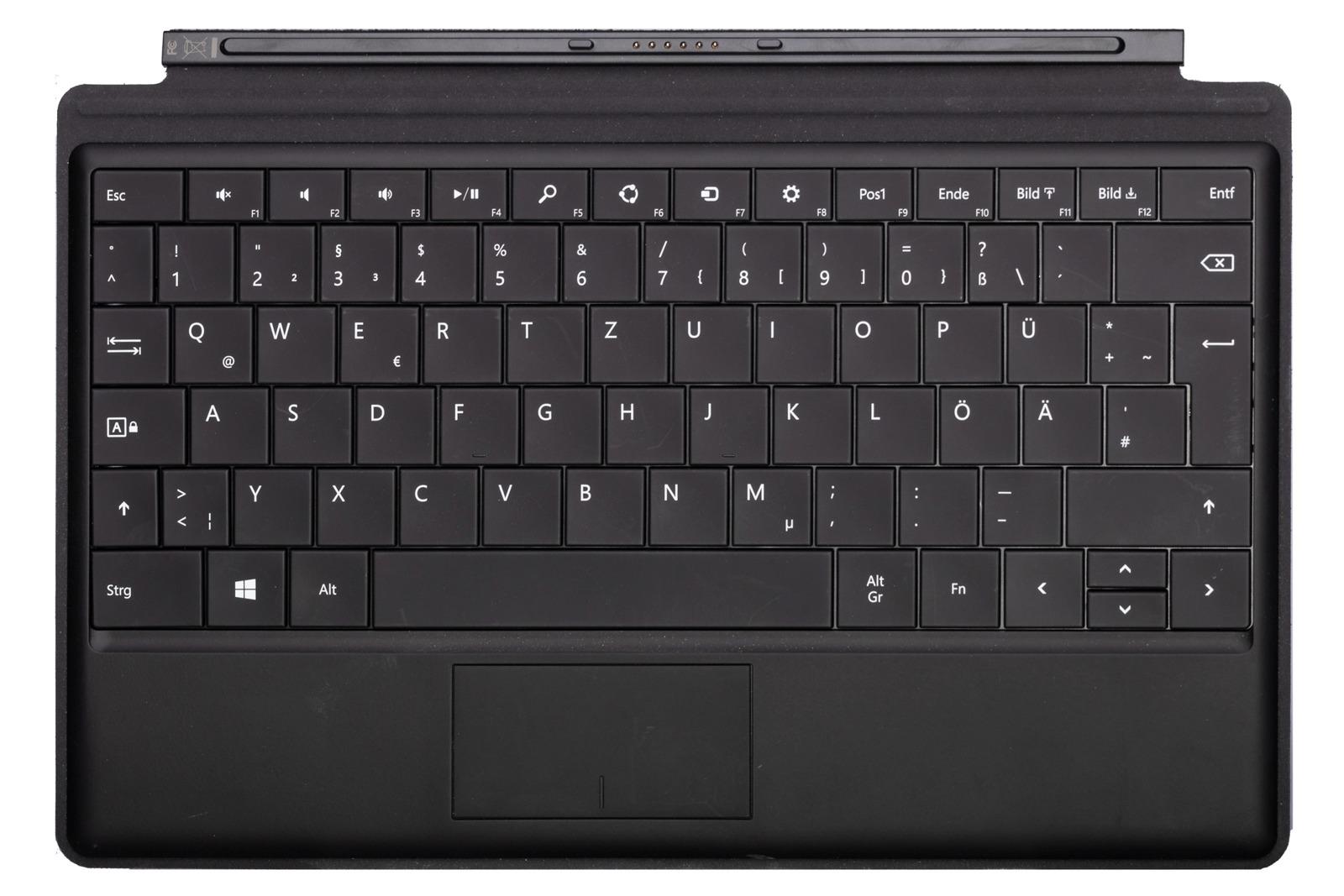 Keyboard Microsoft Surface Type Cover Black QWERTZ (German) Grade B