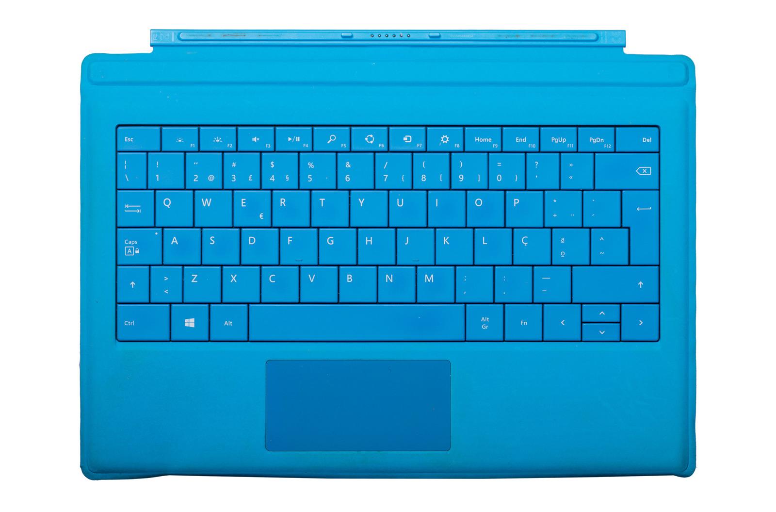 Keyboard Microsoft Surface Type Cover Pro 3 Cyan QWERTY (Portuguese) Grade C