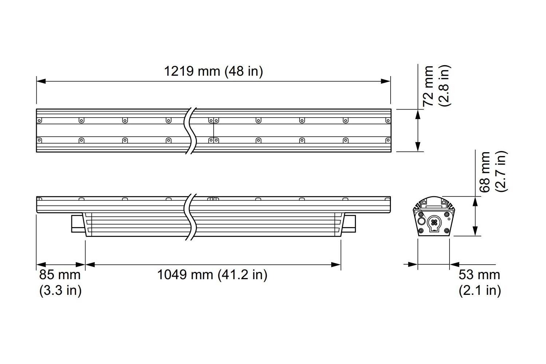 Linear LED Luminare Philips eColor Graze MX Powercore BCS439 10x60 Red L1219 4ft