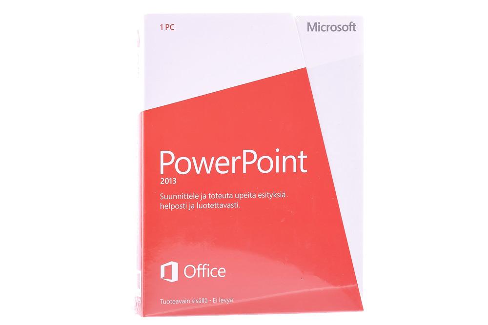 New Microsoft PowerPoint 2013 079-05888 Finnish Medialess Eurozone