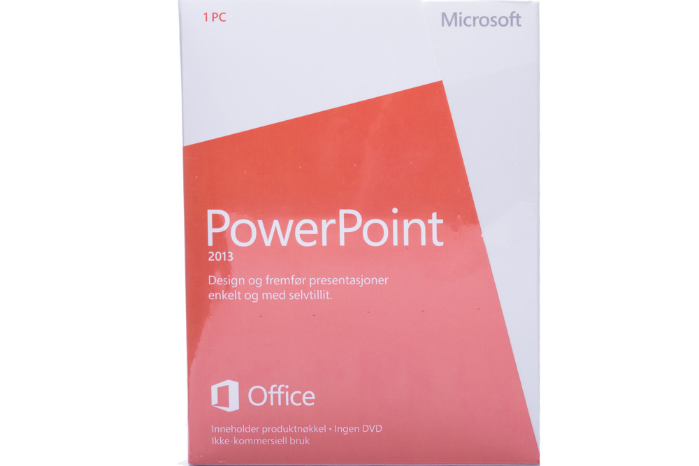 New Microsoft PowerPoint 2013 079-05951 Norwegian Medialess Noncommercial