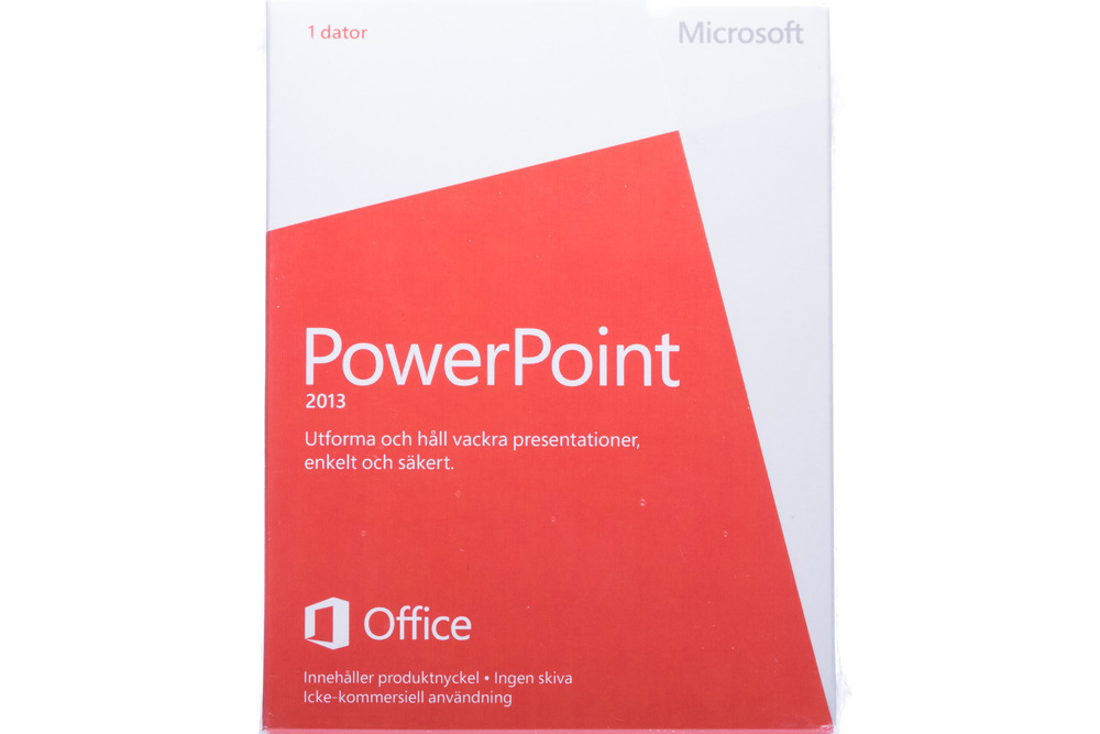 New Microsoft PowerPoint 2013 079-05961 Swedish Medialess Noncommercial