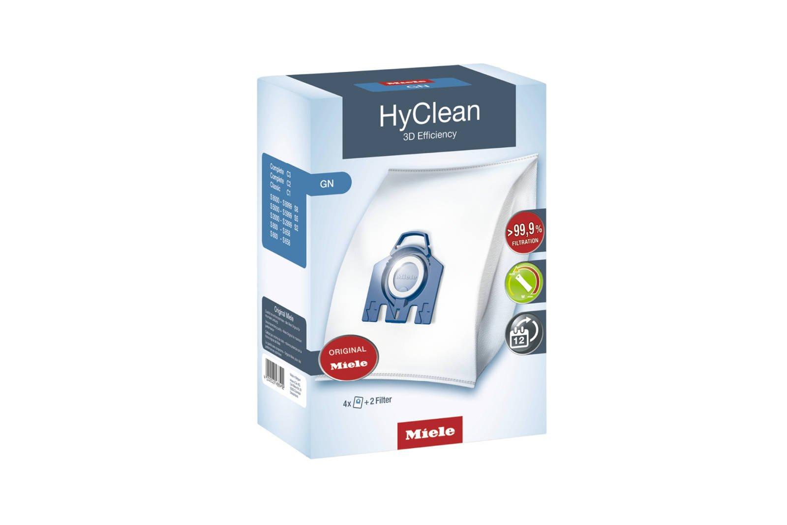 Original Vacuum bags Miele HyClean 3D Efficiency GN 4x Bags + 2x Filters