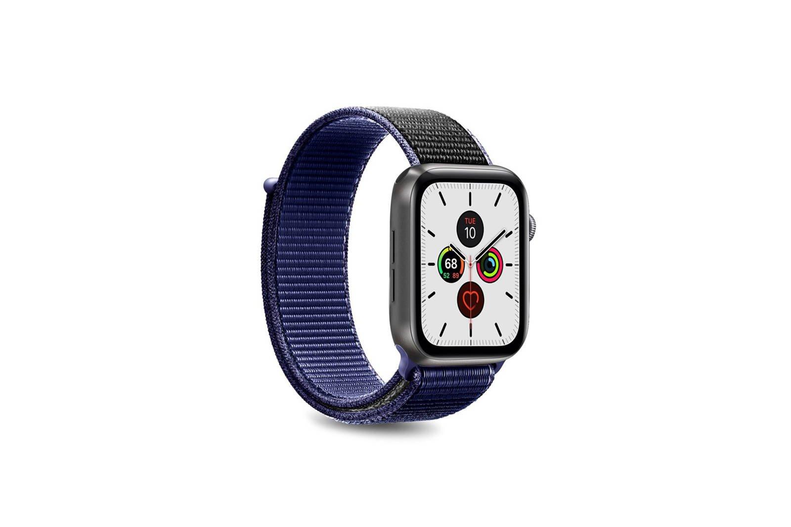 Puro Nylon Strap for Apple Watch 42/44mm Blue