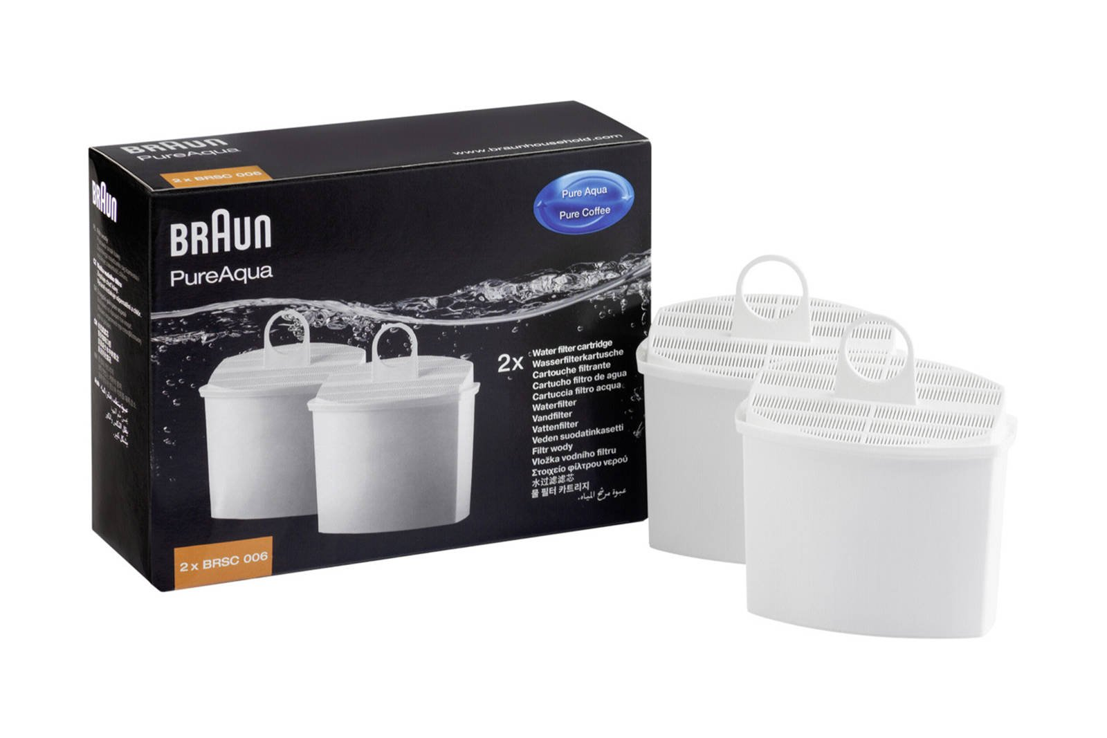 Water filter cartridge 2x Braun PureAqua BRSC006